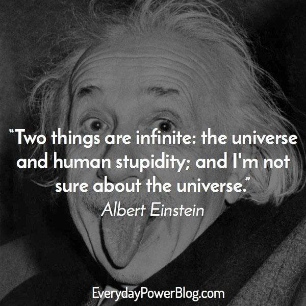 Albert Einstein Quotes about the universe