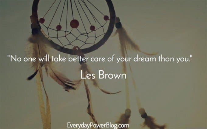 Les Brown quote about dreams