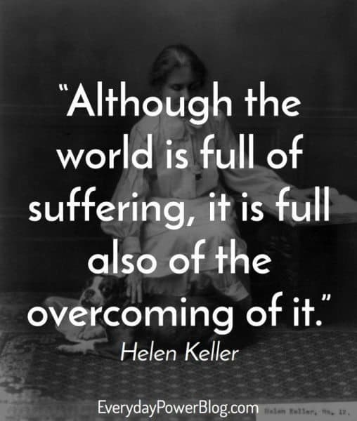 motivational helen keller quotes