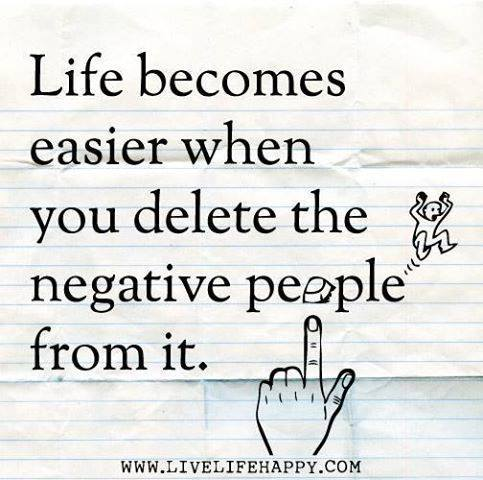 Inspiring Picture Quotes delete negative people
