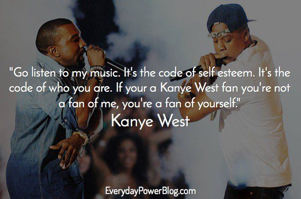 kanye west quotes about self esteem