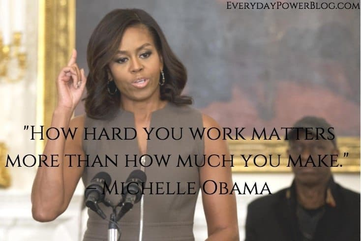 Michelle Obama quotes about hard work