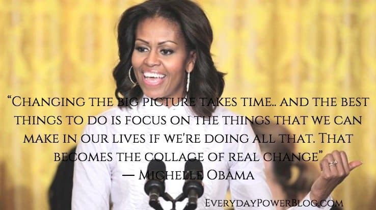 Michelle Obama quotes about change
