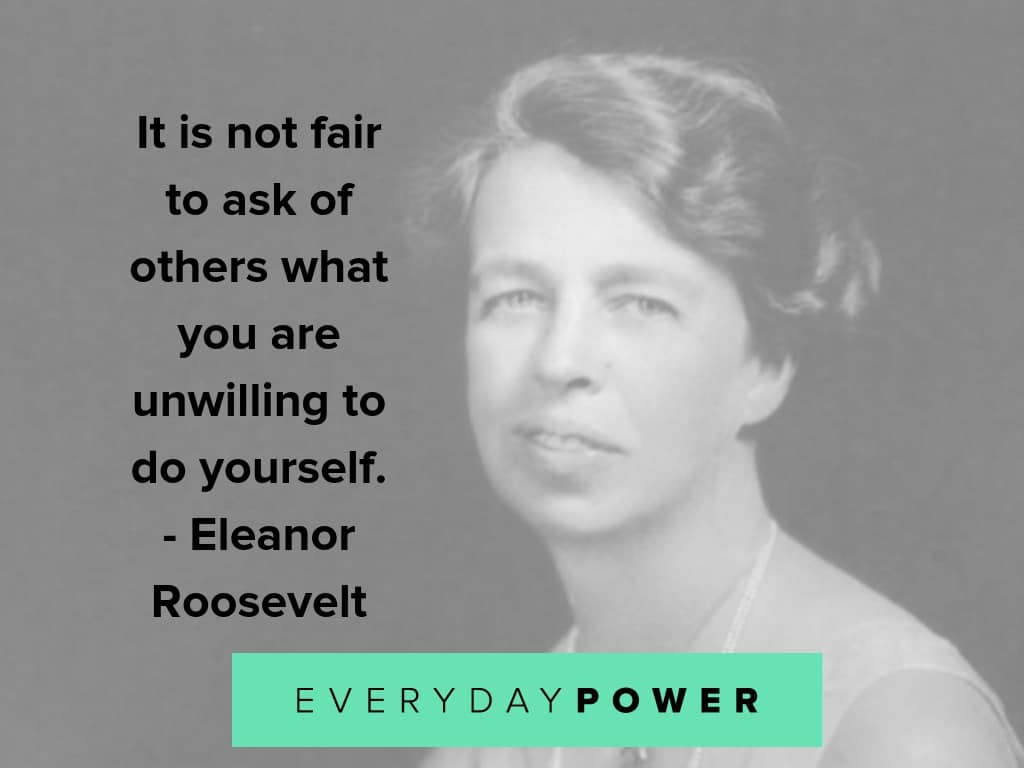eleanor roosevelt quotes on doing it yourself