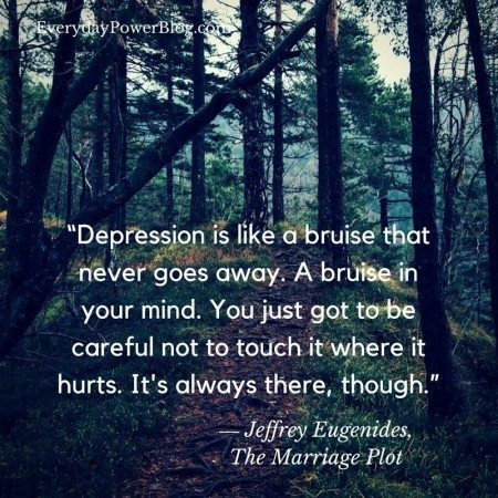 quotes on depression bruise mind