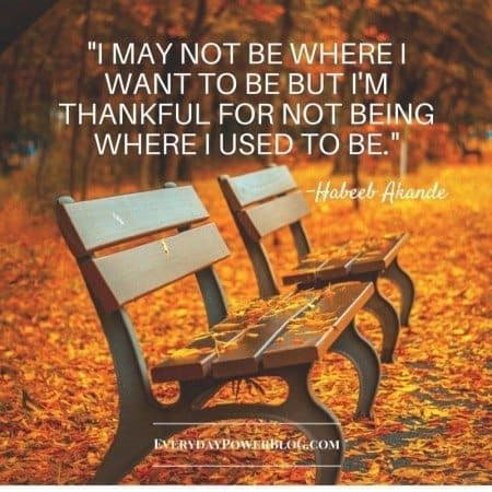 gratitude quotes where you used to be
