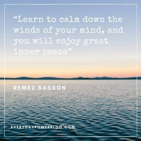 quotes on being calm