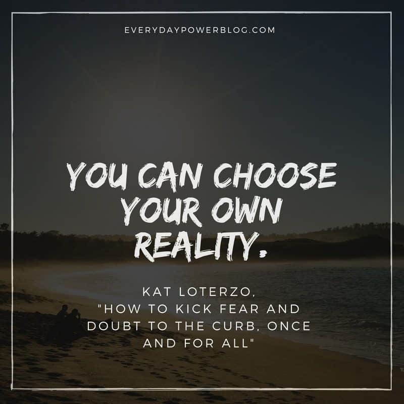 Kick Fear and Doubt to the Curb