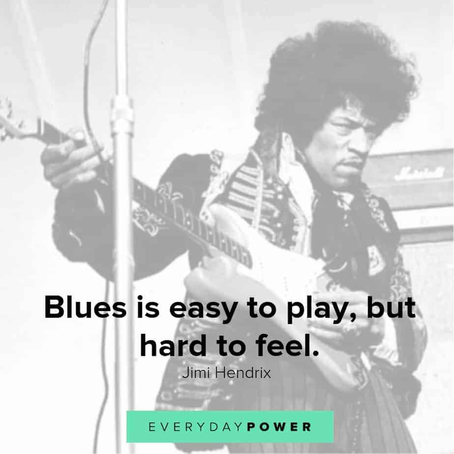 jimi hendrix quotes about blues