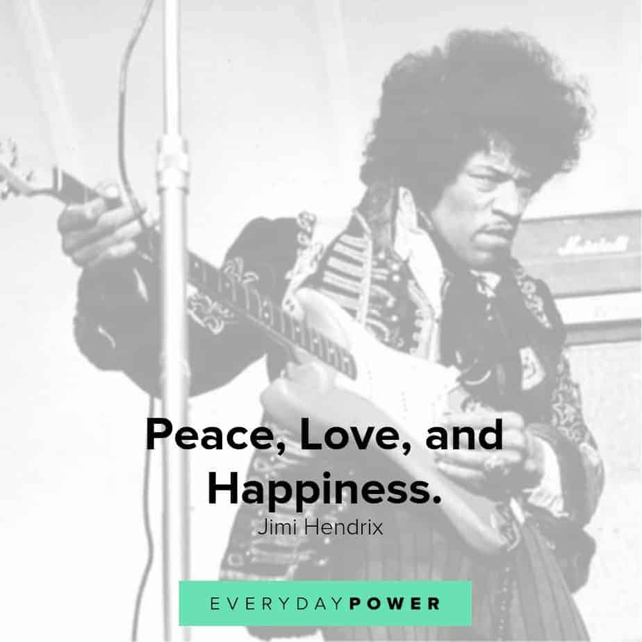 jimi hendrix quotes on happiness