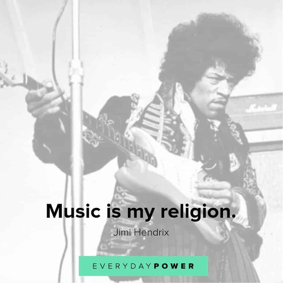 jimi hendrix quotes on music