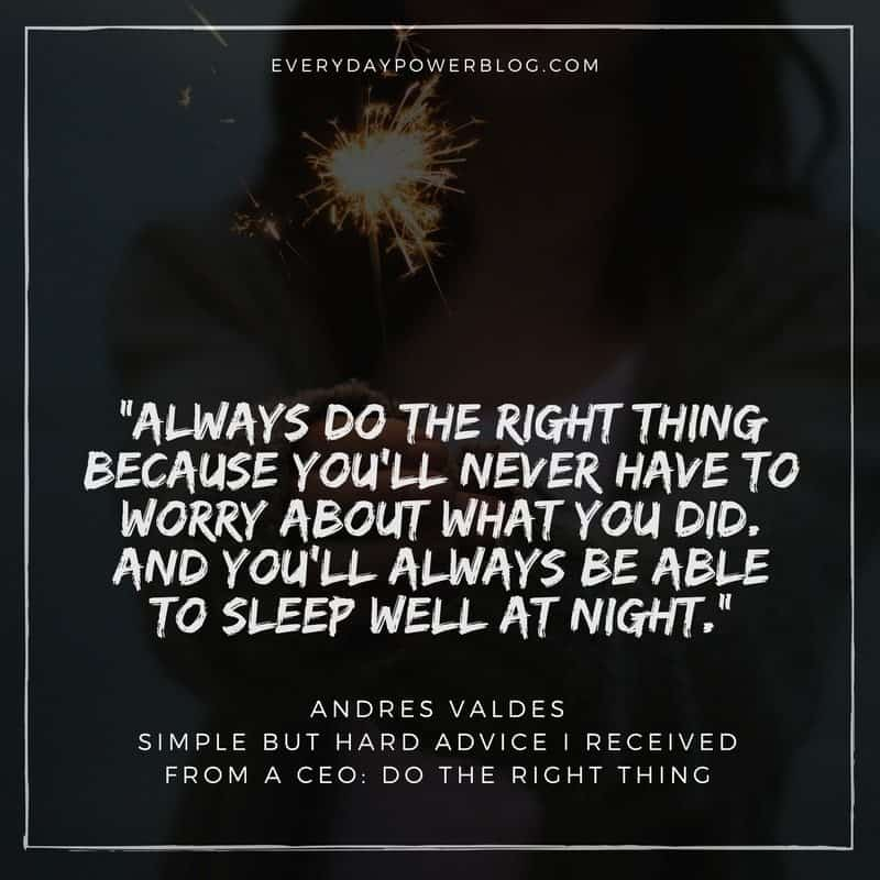 Advice from a CEO Do The Right Thing
