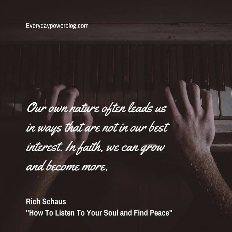 Listen To Your Soul and Find Peace