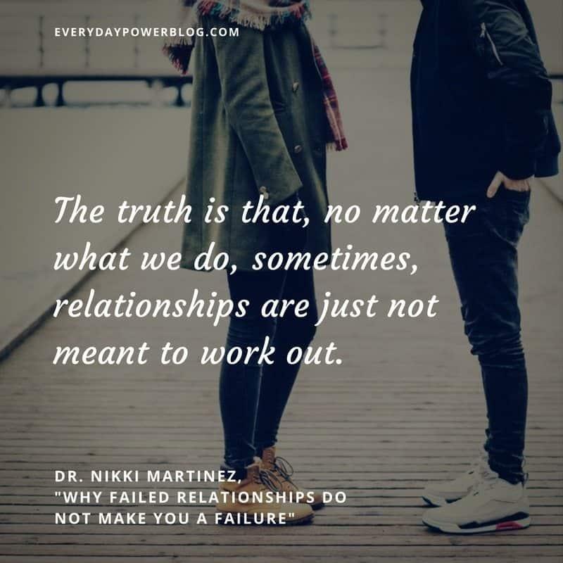 Failed Relationships Do Not Make You a Failure
