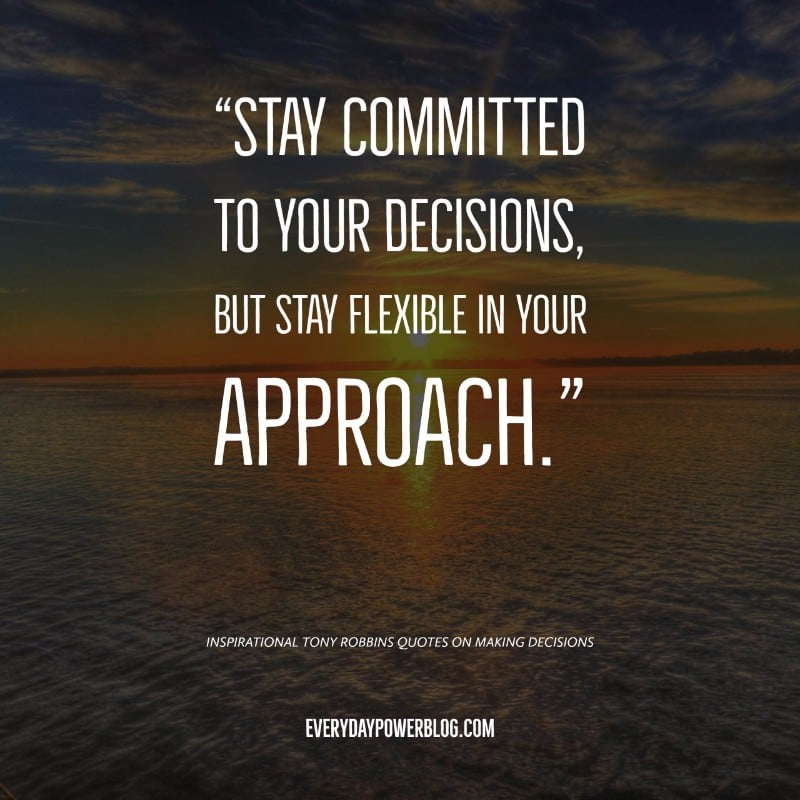 Tony Robbins Quotes on Making Decisions