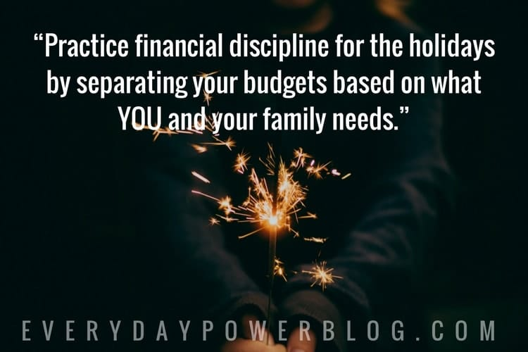 Financial Discipline During The Holiday Season
