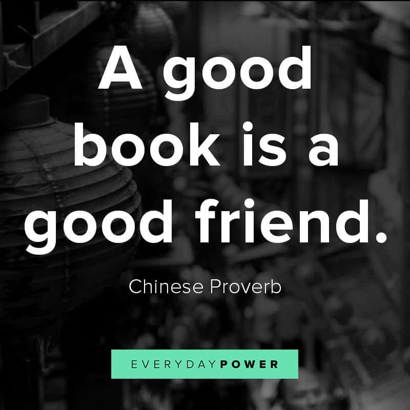 Famous Chinese proverbs about books