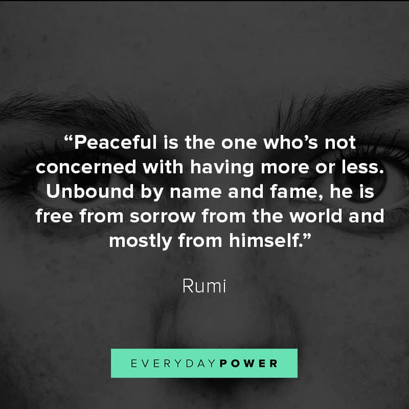 Rumi Quotes on peace