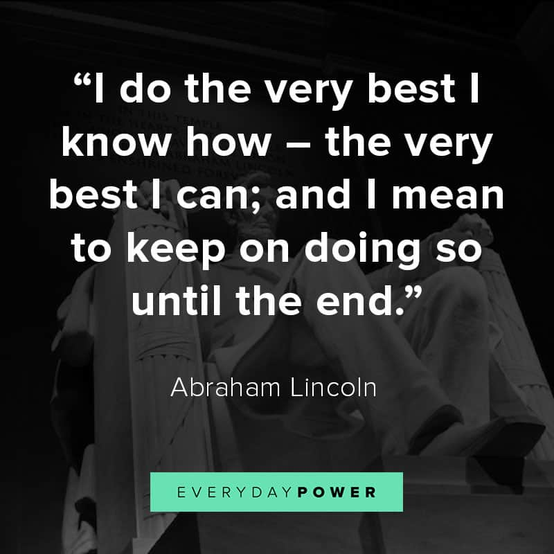 Abraham Lincoln quotes on being the best