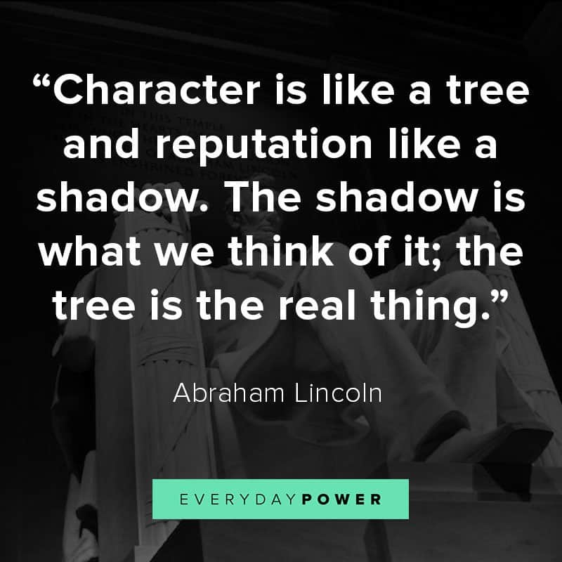 Abraham Lincoln Quotes on character