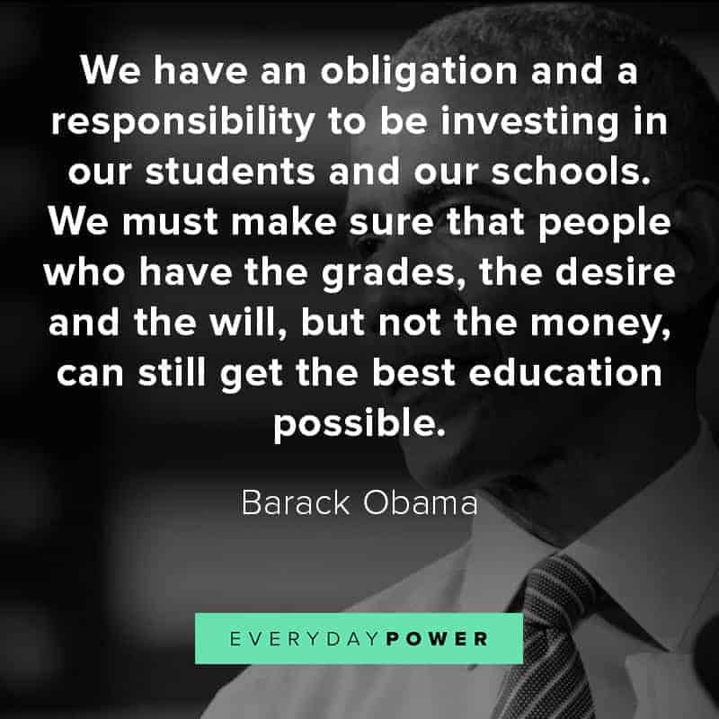 Barack Obama quotes about education