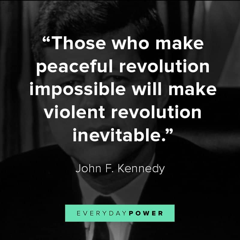 John F. Kennedy quotes on peace and politics