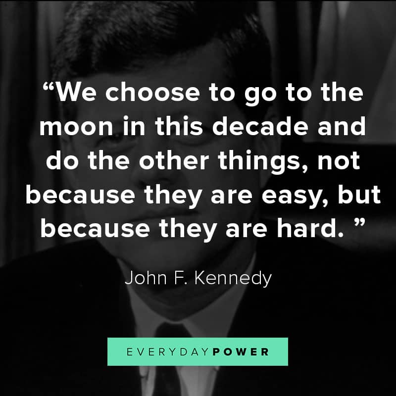 John F. Kennedy quotes about space