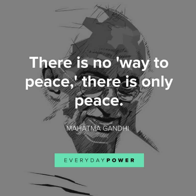 best MAHATMA GANDHI quotes about peace