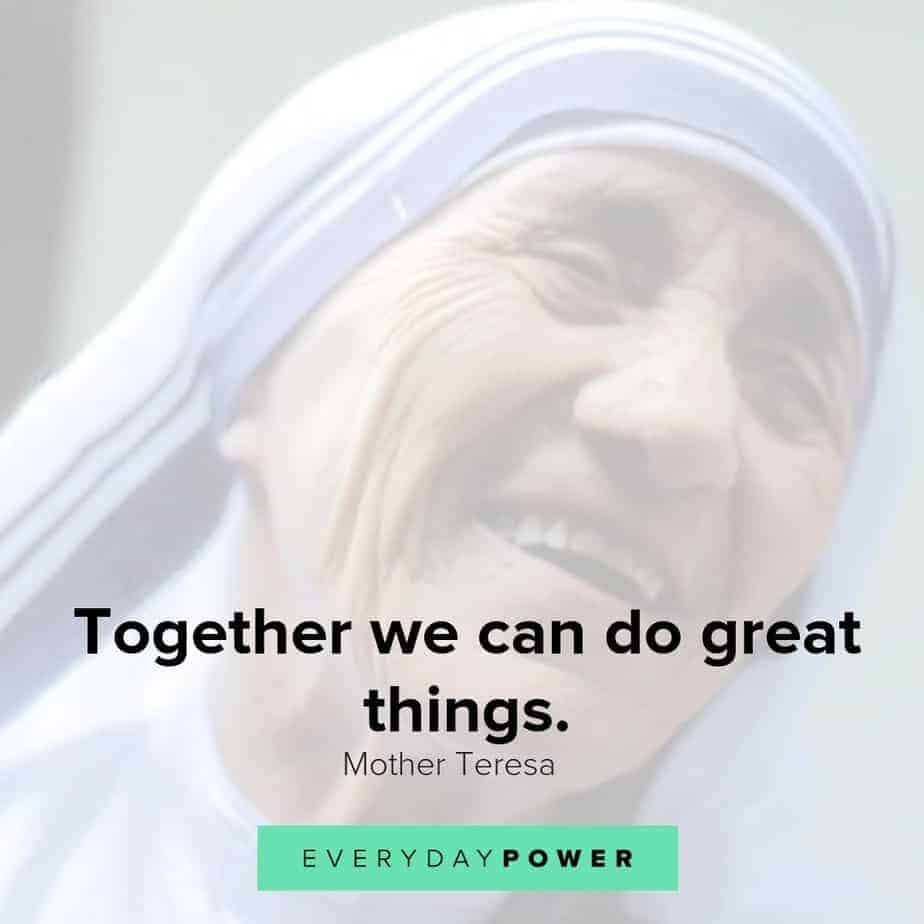 mother teresa quotes on togetherness