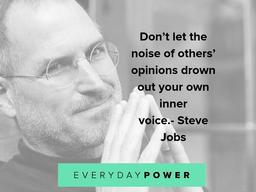 steve jobs quotes about opinions