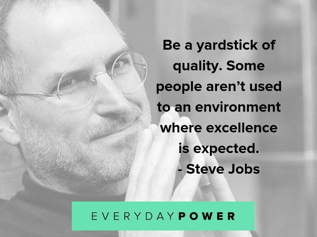 steve jobs quotes about excellence