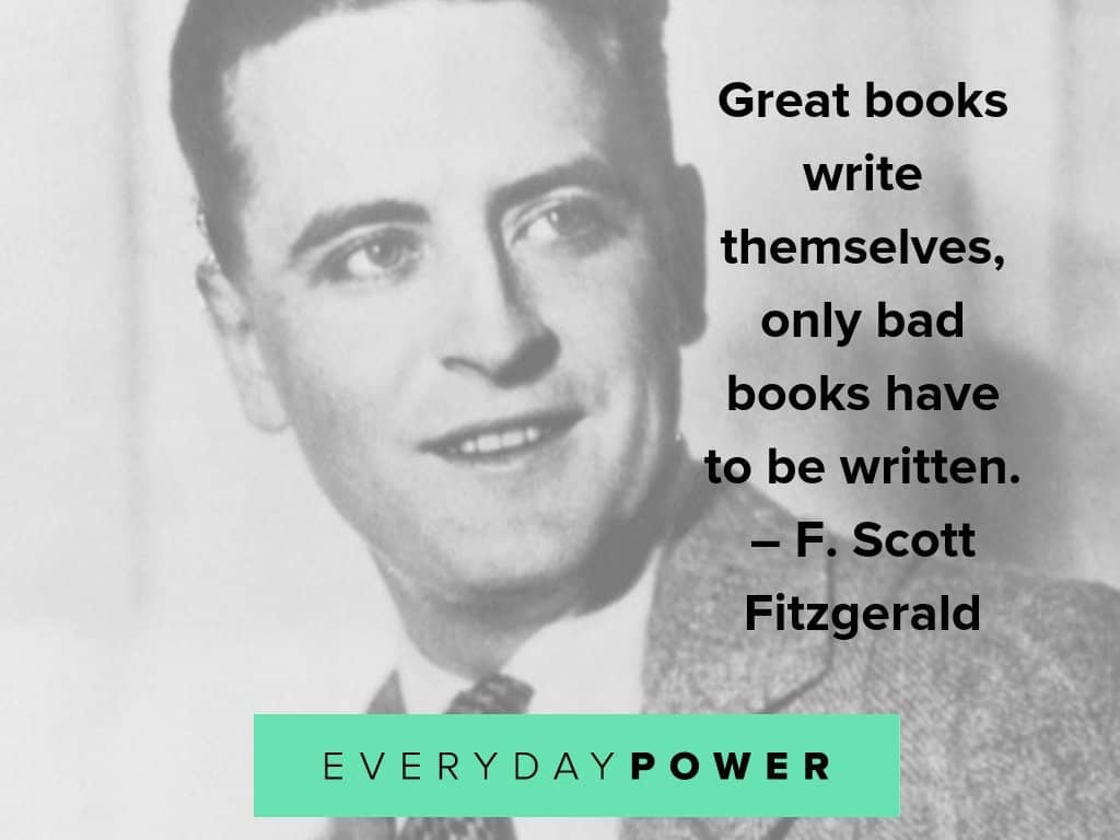 F. Scott Fitzgerald quotes about writing