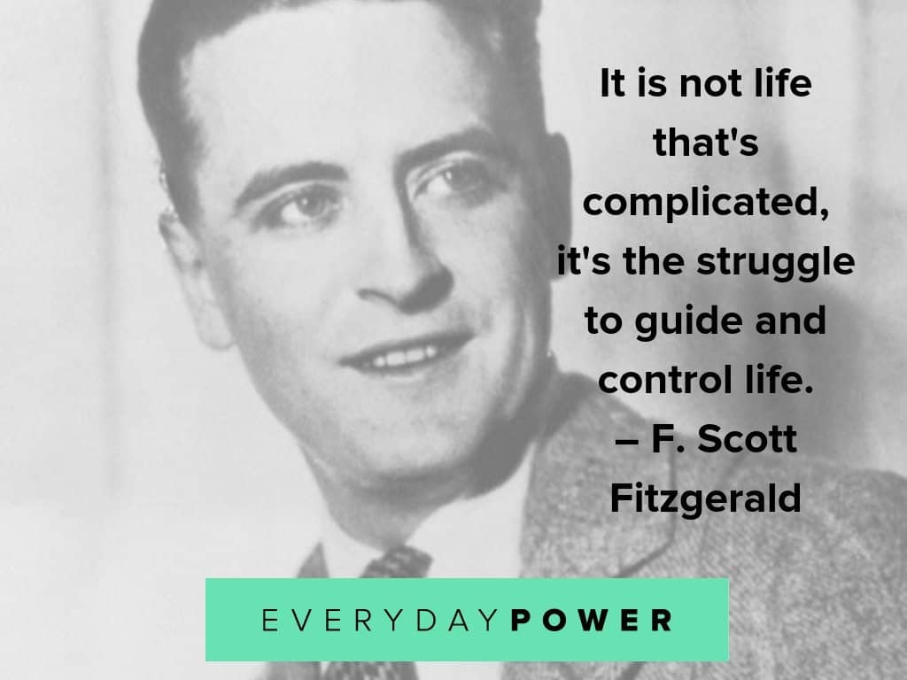 F. Scott Fitzgerald quotes about control