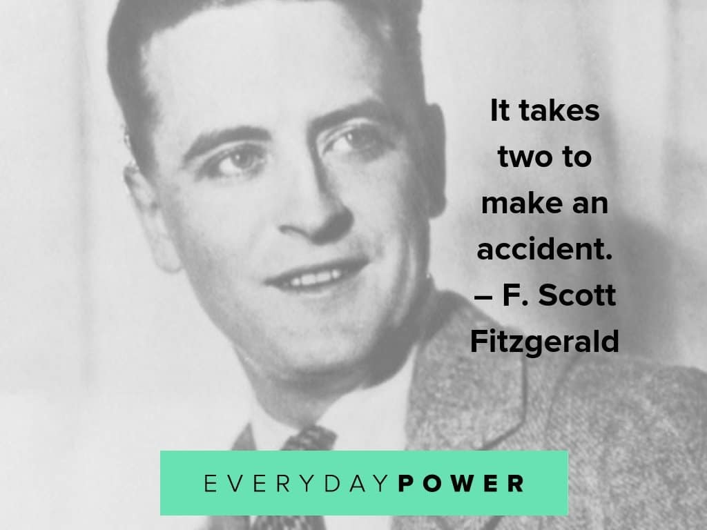 F. Scott Fitzgerald quotes on accidents