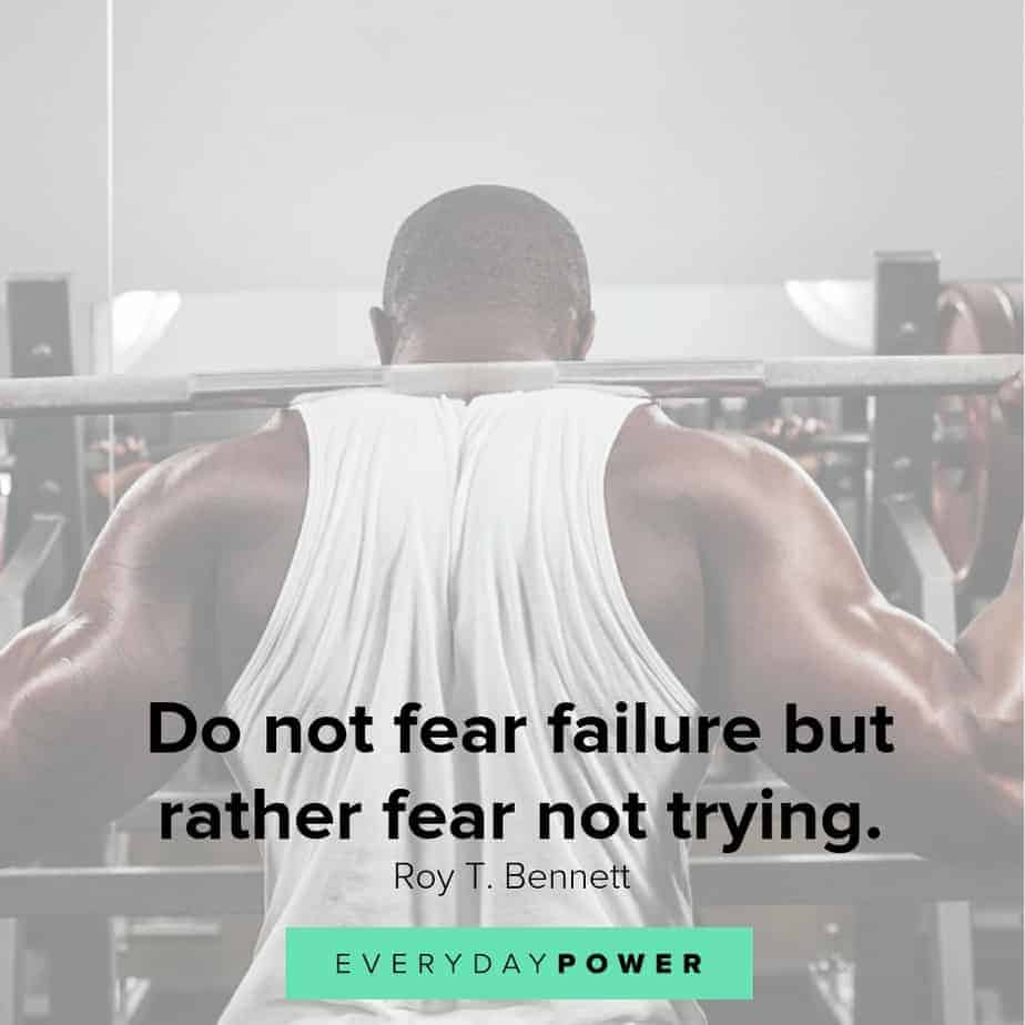 never give up quotes about fear
