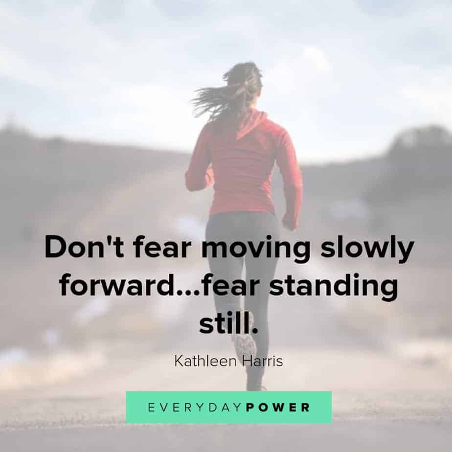 running quotes on fear