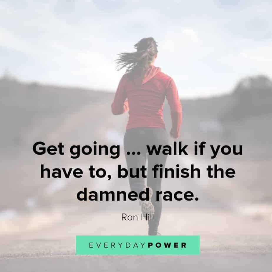 running quotes on finishing the race