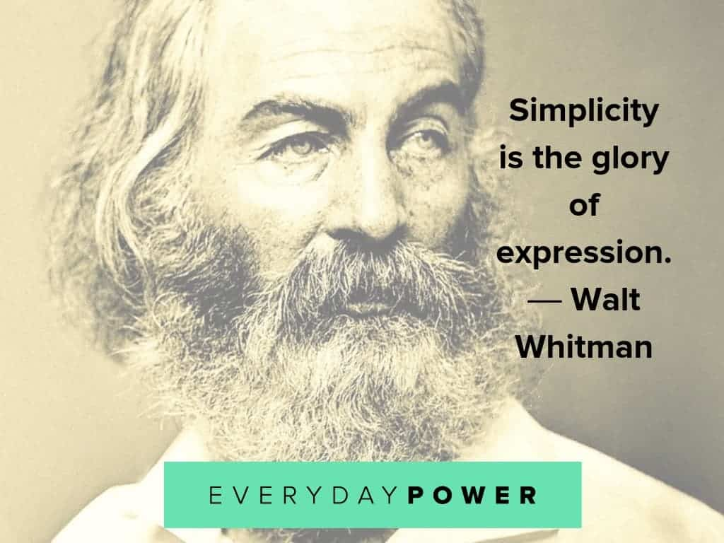 walt whitman quotes about expression