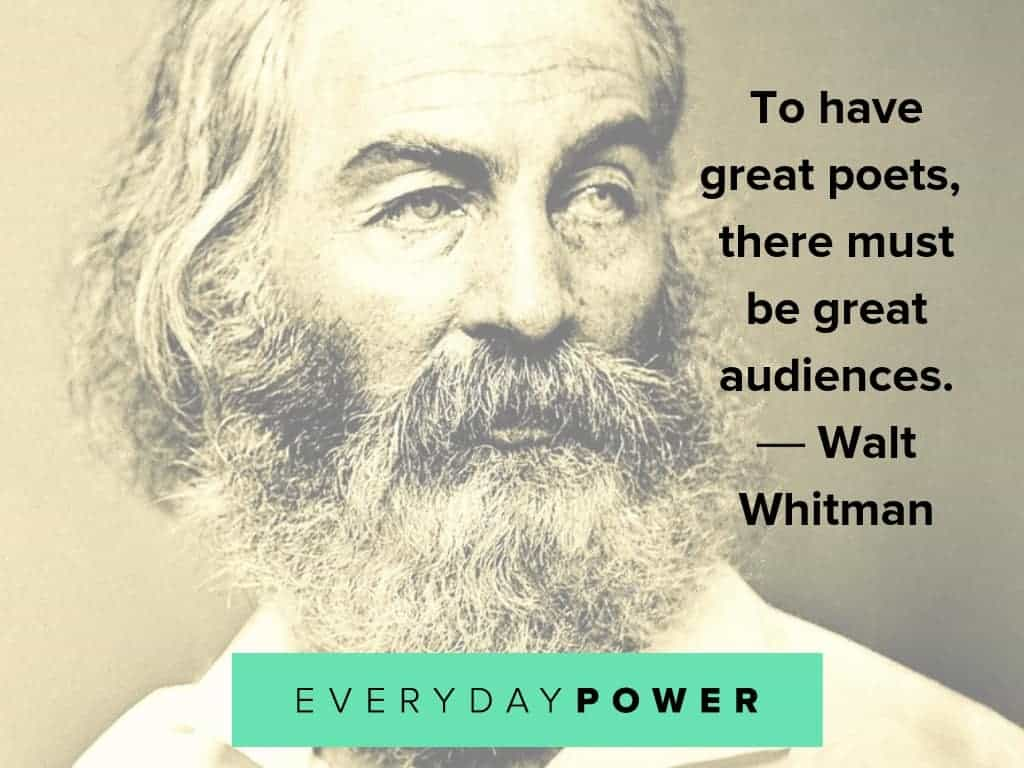 walt whitman quotes on poets