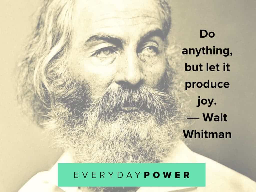 walt whitman quotes on joy