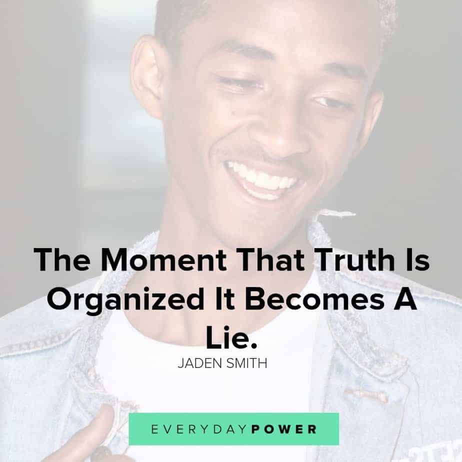 jaden smith quotes about truth