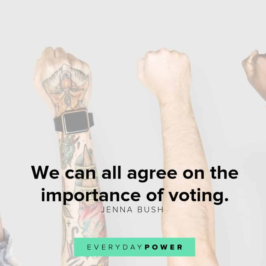 powerful quotes about voting