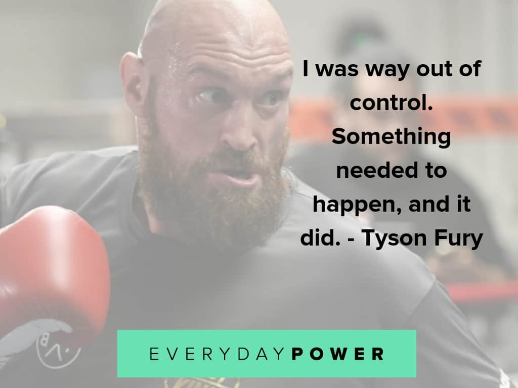 tyson fury quotes on depression