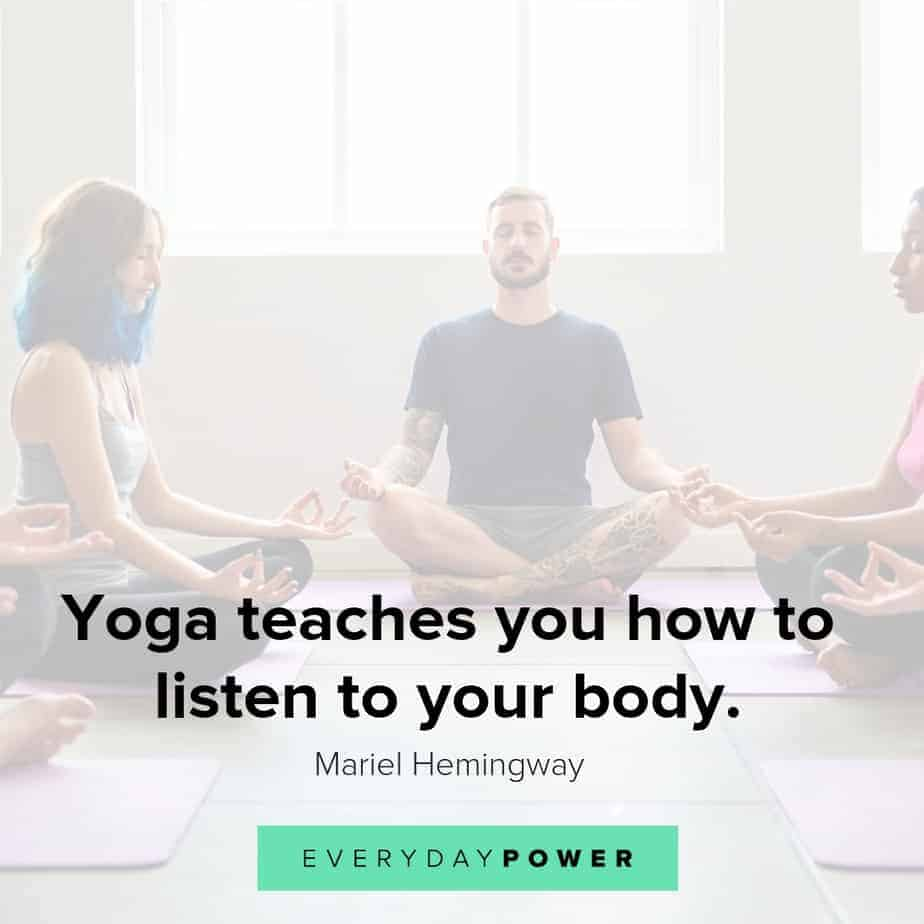 yoga quotes on what it teaches you