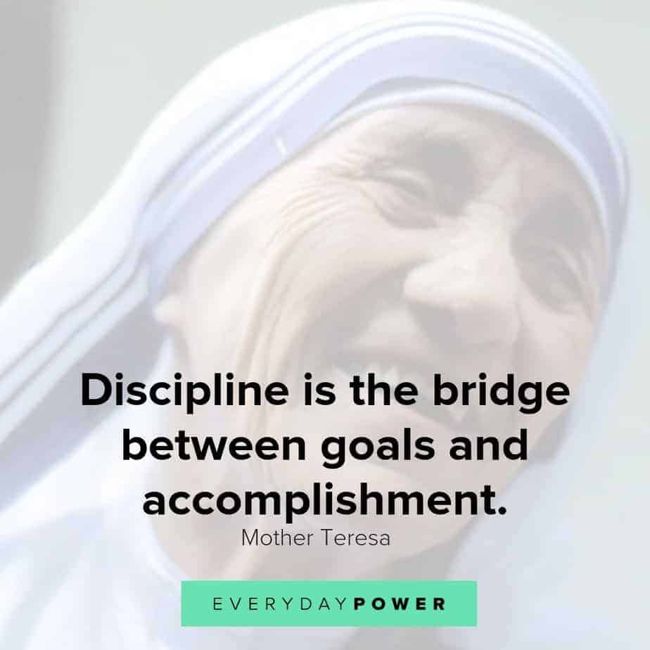 quotes by mother teresa on discipline