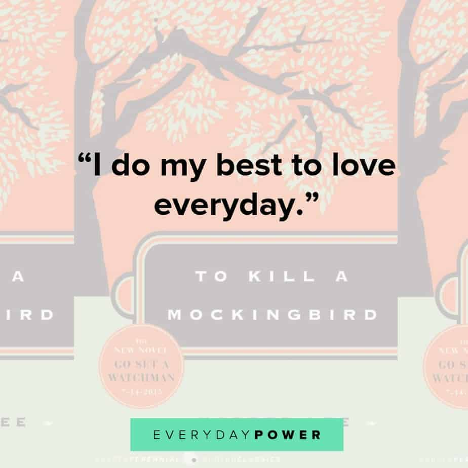 to kill a mockingbird quotes about love