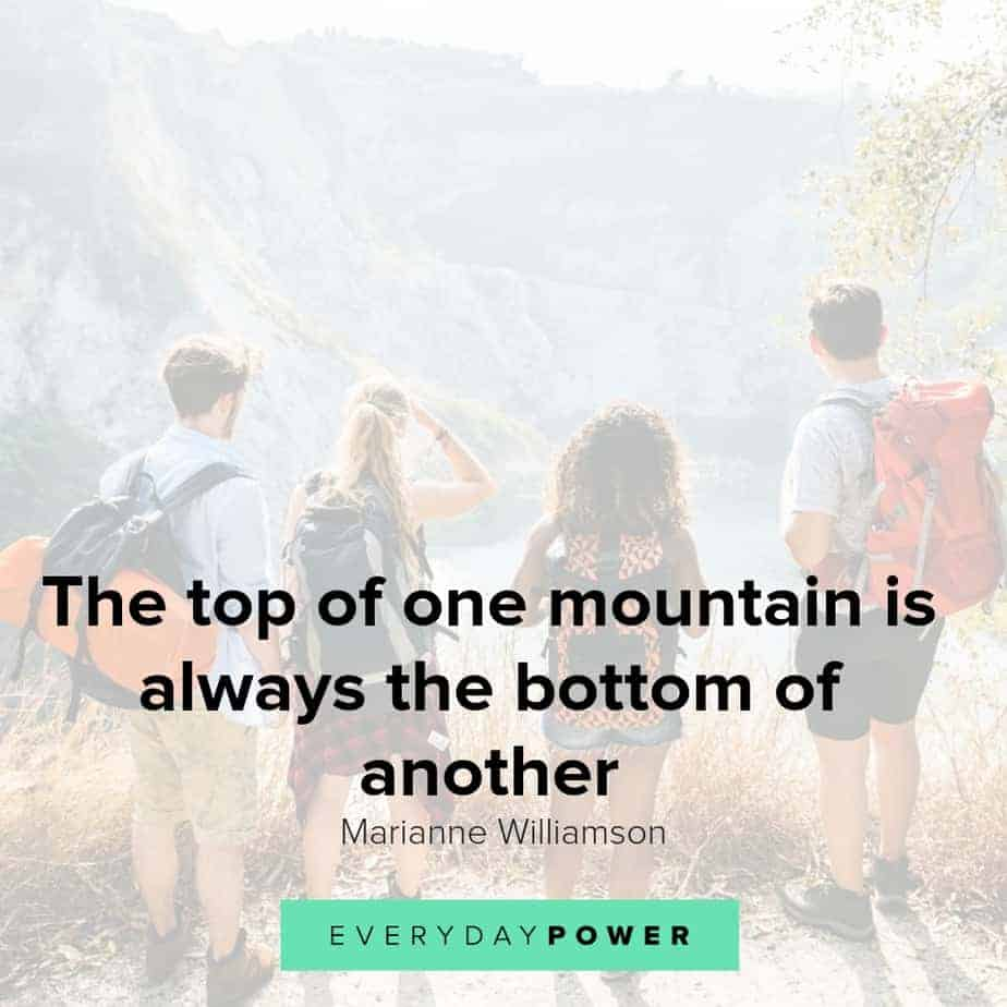 Mountain quotes to give you inspiration