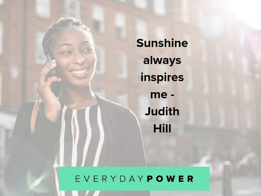 Sunshine quotes to give you more energy
