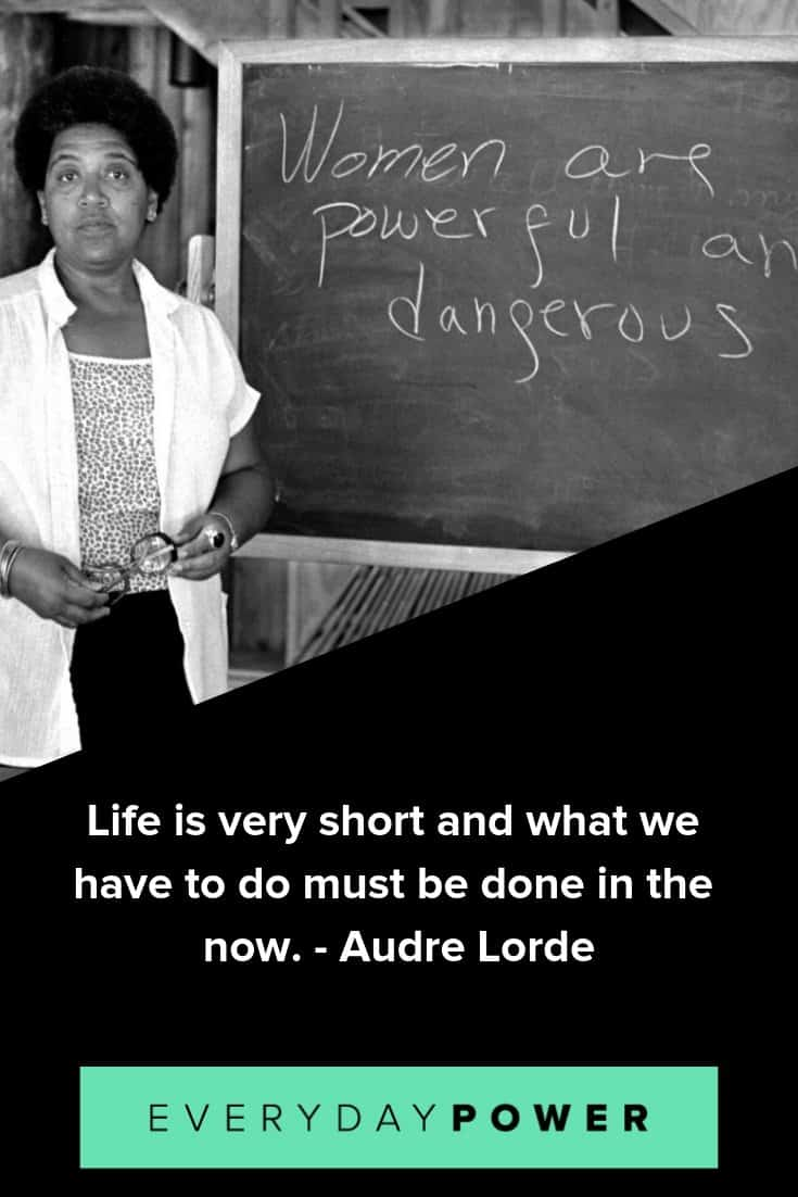 Audre Lorde quotes celebrating feminism and activism