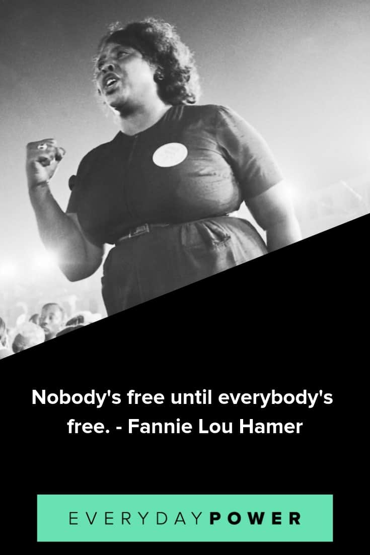 Fannie Lou Hamer quotes expressing the power of voice
